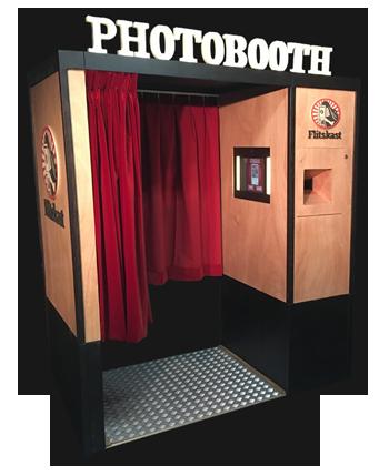 Flitskast photobooth fotohokje bruiloft